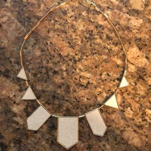 House of Harlow 1960 white and gold necklace